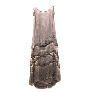 Sheri Bodell Mauve Fringe Dress